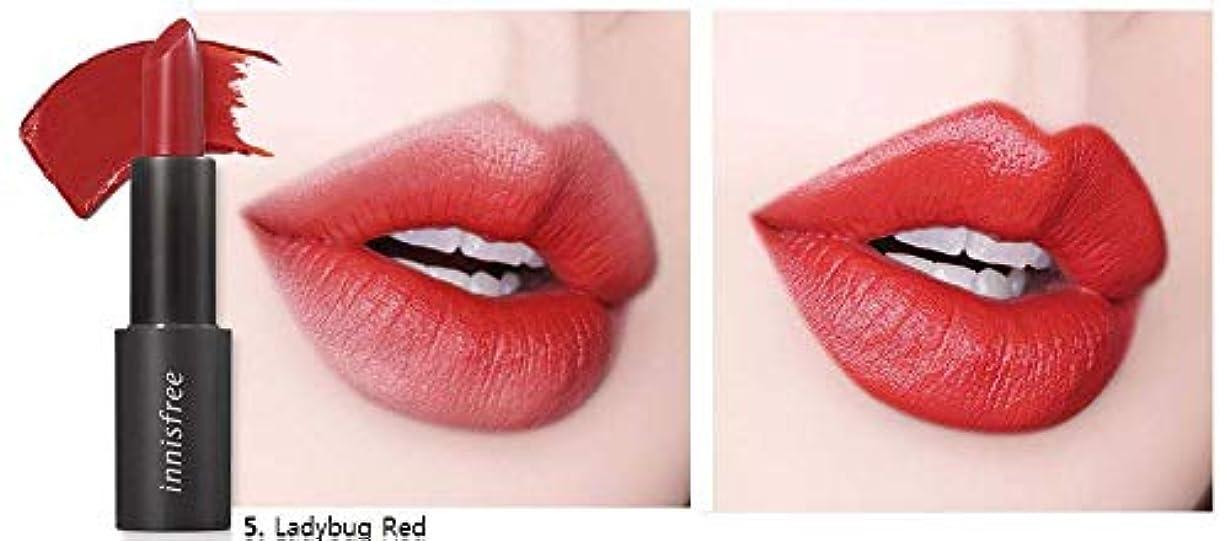 炎上キャメル好ましい[イニスフリー] innisfree [リアル フィット リップスティック 3.1g - 2019 リニューアル] Real Fit Lipstick 3.1g 2019 Renewal [海外直送品] (05. レディバグ...