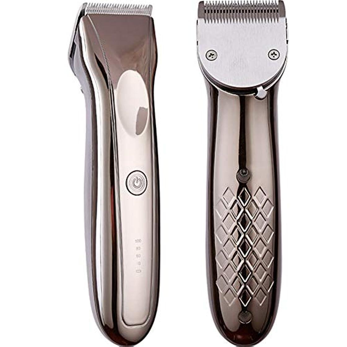 バリカンledトリマー男性0.8-2.8ミリメートルプロフェッショナル電気ステンレス鋼切断機理髪散髪ツール