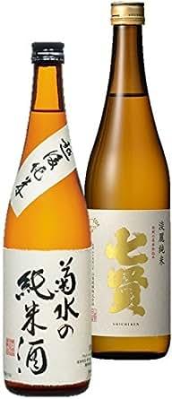 【菊水の純米・七賢 淡麗純米】 純米酒飲み比べ 2本セット 720ml×2本