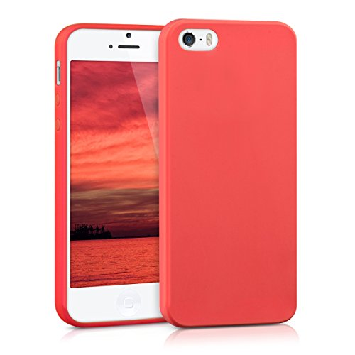 kwmobile TPU シリコンケース Apple iPhone SE / 5 / 5S用 赤色マット