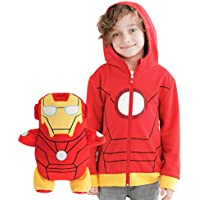 Cubcoats Iron Man- 2-in-1 Transforming Hoodie and Soft Plushie- Red and Gold