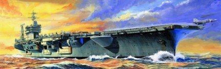 【並行輸入品】Trumpeter 1/700 USS Nimitz CVN68 Aircraft Carrier 1975 Model Kit =トランペット奏者1/700米国ニミッツCVN68航空母
