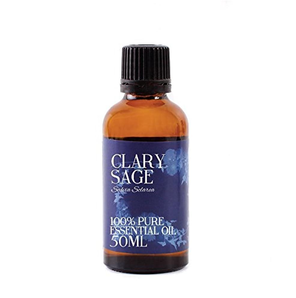 不道徳彼はガラスMystic Moments   Clary Sage Essential Oil - 50ml - 100% Pure