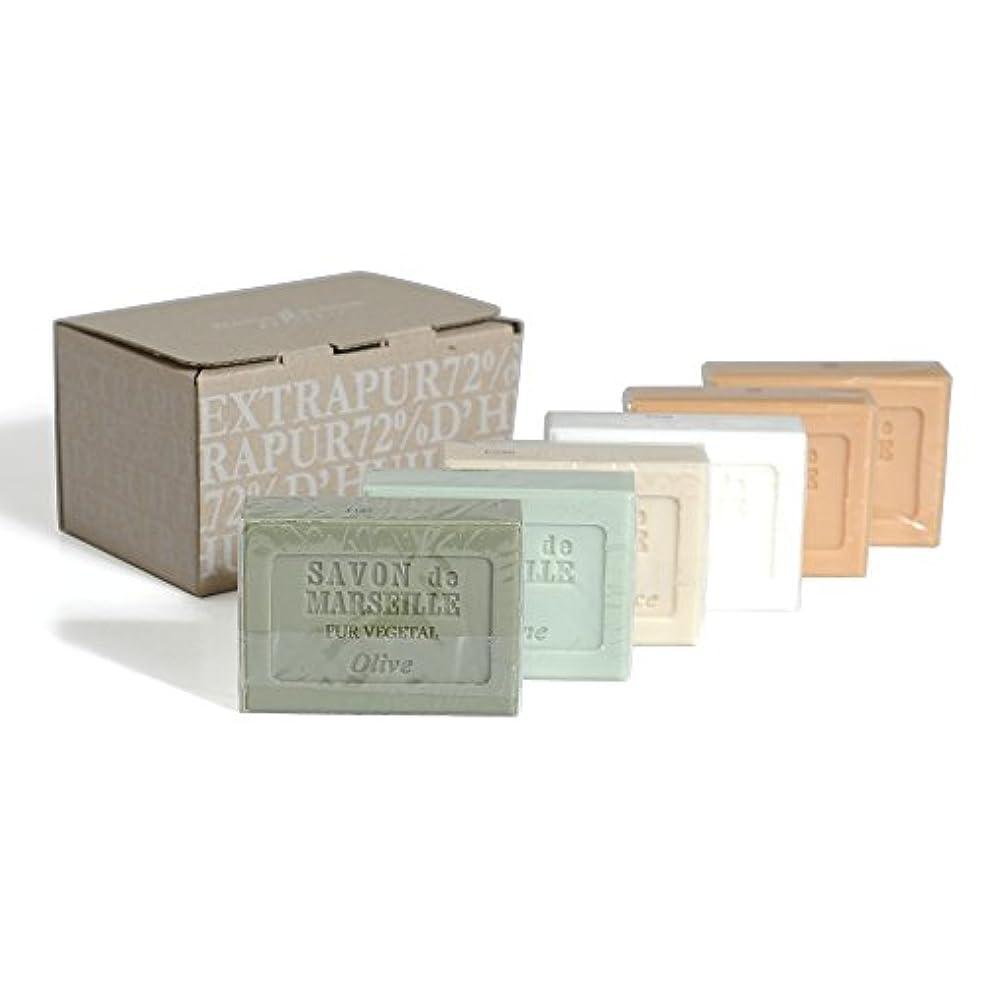 裕福なシャツ楽観的Plantes&Parfums マルセイユソープセット 100g 6pcs BOX-011