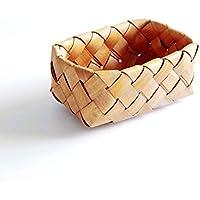 CQ 田舎の手作りの木のチップ織りのバスケットのパンのバスケットのストレージブルーフルーツのバスケット (Size : S)