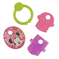 Disney Minnie Mouse Teether Keys with Rattle and Link by Disney
