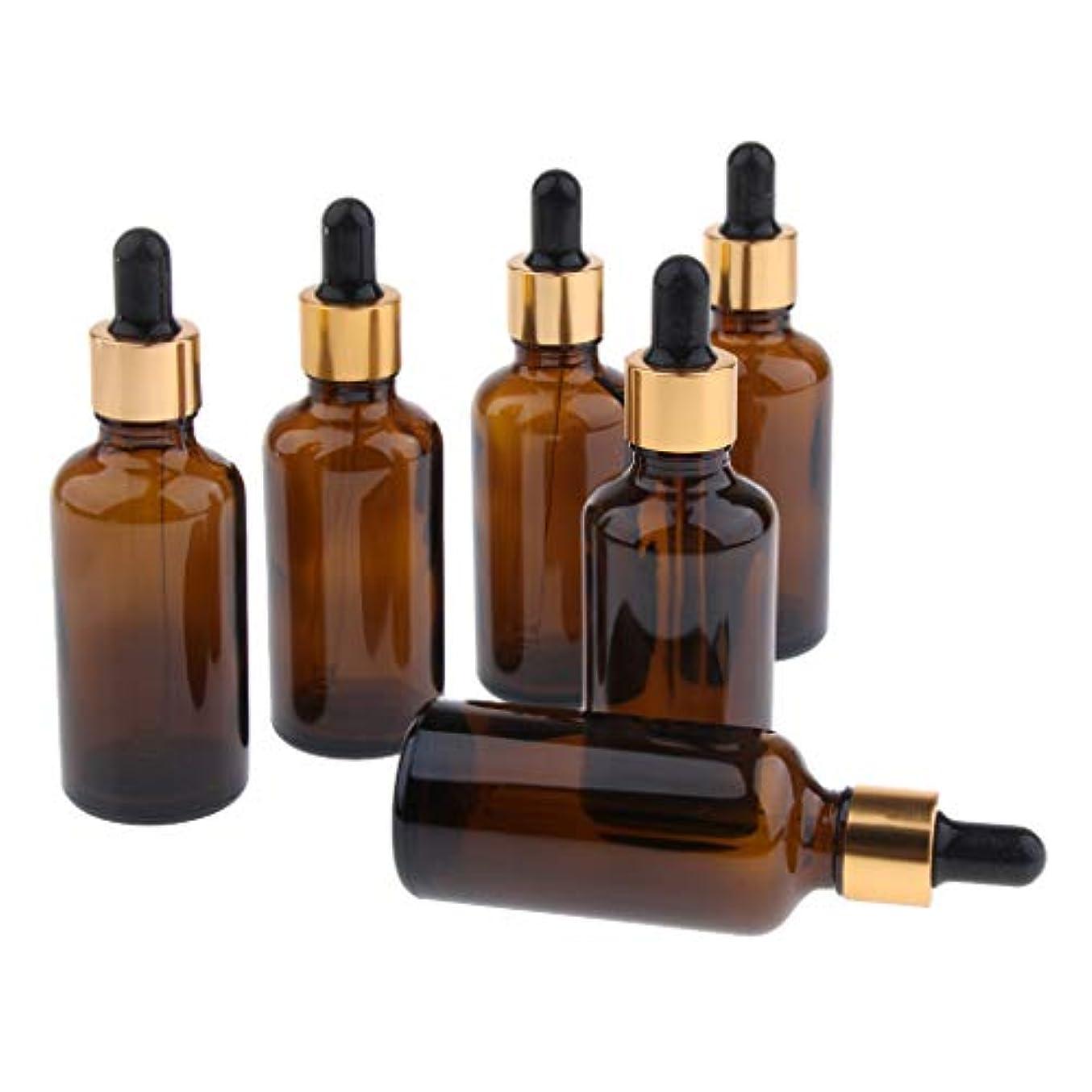 克服する乳剤反応するD DOLITY 6本セット 遮光精油瓶 香水瓶 空瓶 ガラス瓶 スポイトボトル 詰め替え用瓶 旅行用品 マルチ容量 - 50ml