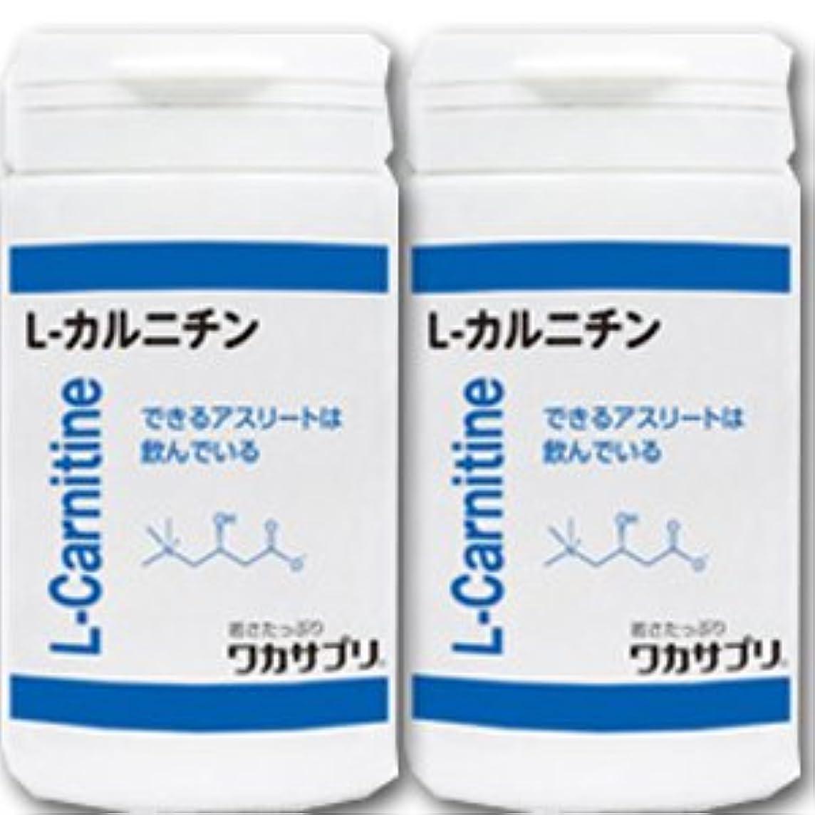 貼り直す蒸発パートナー【2個】 ワカサプリ L-カルニチン 60粒x2個(4562137413703)