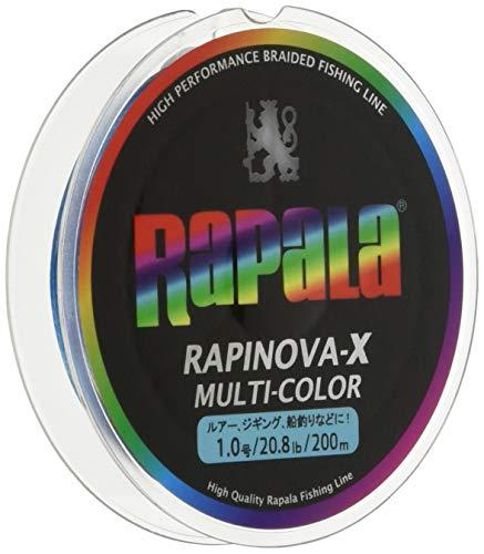 ラピノヴァX マルチカラー 1.0号 20.8lb 200m