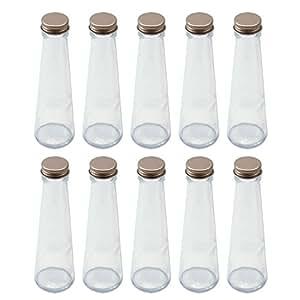 日本製 ハーバリウム 円錐ガラス瓶 100cc 10本セット