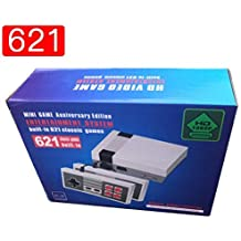 Classic mini HD game console classic game console built-in 621 game video game console game console, HDMI output, 8-bit and two control handles, bring you happy childhood memories