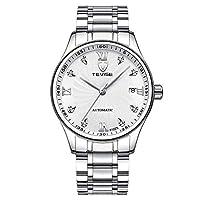 HWCOO 美しい時計 TEVISE自動機械式時計メンズファッションメンズシングルカレンダー機械式時計 (Color : 6)