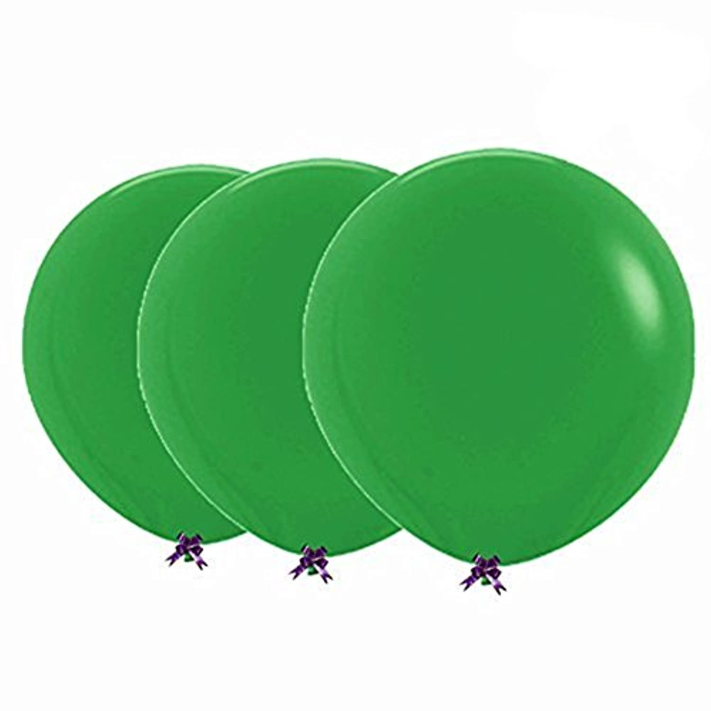 Skhls Giantラテックスバルーン36インチグリーン、3カウント