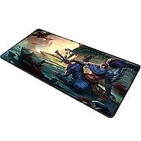 League of Legends 拡張サイズ プロフェッショナルゲーム用マウスパッド - 滑り止めゴムベース - コンピューターキーボードパッドマット - 大型デスクマット - 35.4インチ x 15.7インチ