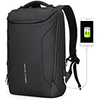 Water-Proof Business Laptop Backpack Markryden Large-Capacity Modern Rucksack Bags for Men with USB Charging Port for School Travel Work Fits 17.3/15.6 Inch Laptop (Black (New)) black Black-2 POCKET 15.6 inches