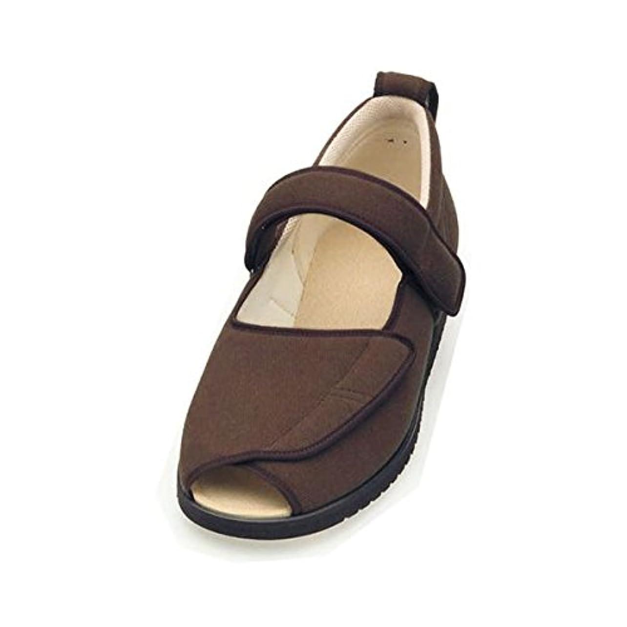 考案する含むミル介護靴 施設 院内用 オープンマジック2 3E 1015 片足 徳武産業 あゆみシリーズ /3L (25.0~25.5cm) ブラウン 右足 ファッション 靴 シューズ サポートシューズ 室内用 top1-ds-1432835...