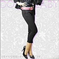 (ドルチェルビ) DOLCE LABY レディース スーツ サブリナパンツ 生地:6.ブラック 無地(M27219/TK) 03号(3S)W64 股上20 股下70