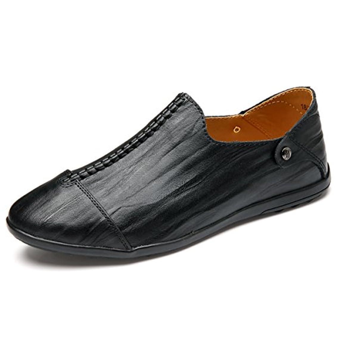 クリップ保証金複雑なLSGEGO メンズ ローファー ビジネス シューズ ボート 男性カジュアル 本物の革通気性の旅行 オフィスの靴