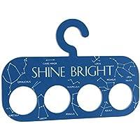 (シージービー?ギフトウェア) CGB Giftware Star Struck 'Shine Bright' 星座 スカーフハンガー スカーフ掛け 収納 (ワンサイズ) (ブルー)