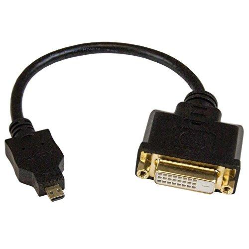 HDMI - DVI-D 変換ケーブル 20cm マイクロHDMI(オス) - DVI-D(メス) HDDDVIMF8IN