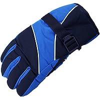 Outfun 男性のスキー手袋 男性のスキー手袋 サーマル防水 冬のアウトドアスポーツ スノーボードの為(青)