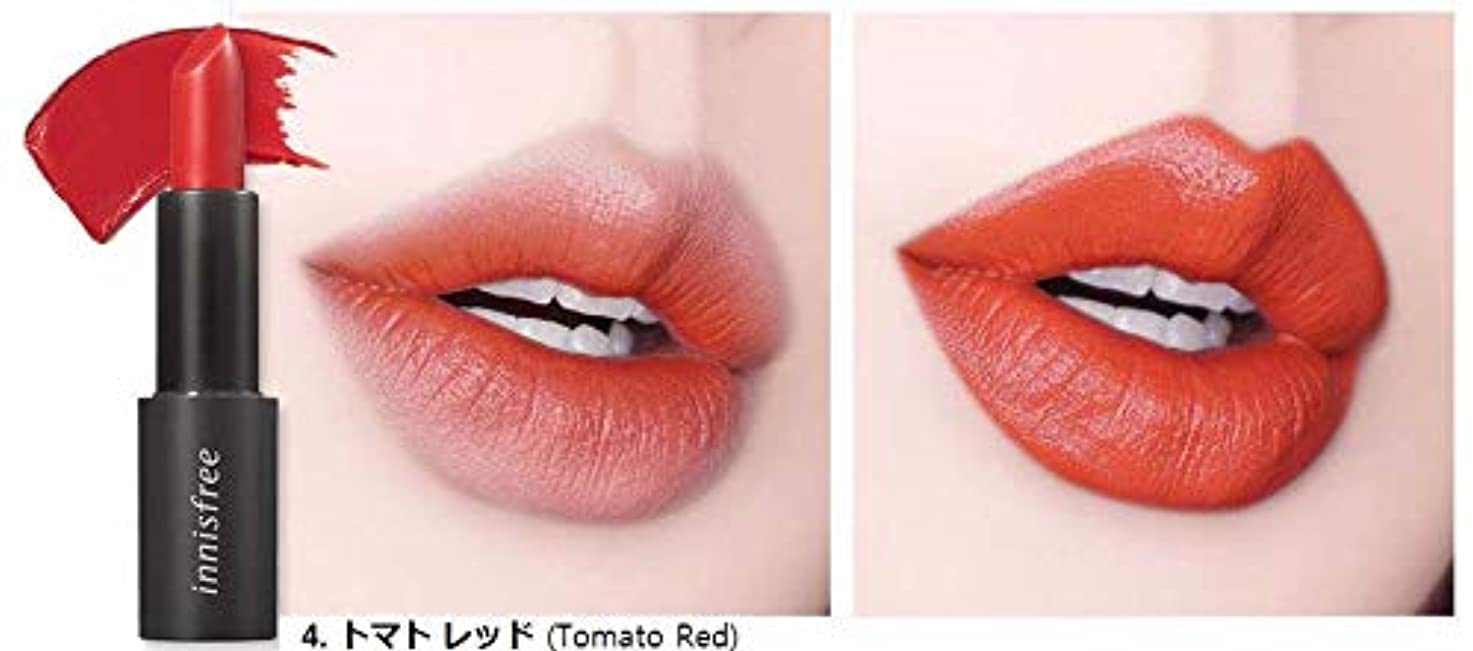 くぼみヒント太い[イニスフリー] innisfree [リアル フィット リップスティック 3.1g - 2019 リニューアル] Real Fit Lipstick 3.1g 2019 Renewal [海外直送品] (04. トマト...