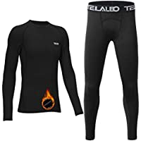 TELALEO Youth Boys' Compression Thermal Shirt Fleece Baselayer Long Sleeve Crew NeckTop