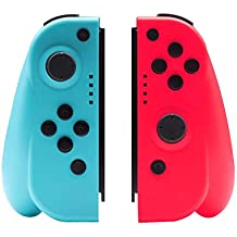 Hivexagon NS Switch Joy-Con Controllers, Left and Right-Handed Wireless Controllers  Compatible for Nintendo Switch Console Easy to Use (Blue/Red, L/R)