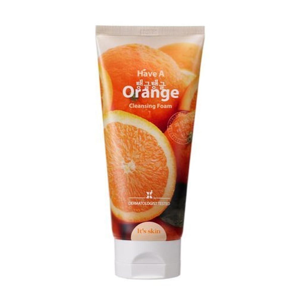 十分な方向手のひらit's skin ハブア オレンジ クレンジングフォーム 150ml