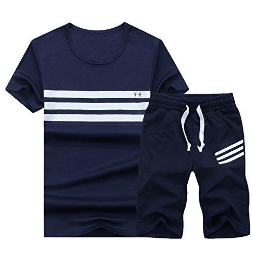 スウェット ジャージ メンズ 上下セット ルームウェア 半袖 薄手 Tシャツ パンツ カジュアル パーカー ショートパンツ 5分丈 アウトドア トレーニング 部屋着 運動着 トップス ボトムス 2点セット 大きいサイズ 配色 ボーダー切替