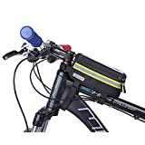 Auze サドルバッグ 自転車トップチューブバッグ フレームバッグ 収納アクセサリー 容量拡張 軽量 ツーリング用 防水 フロントバッグ 多機能 かんたん装着