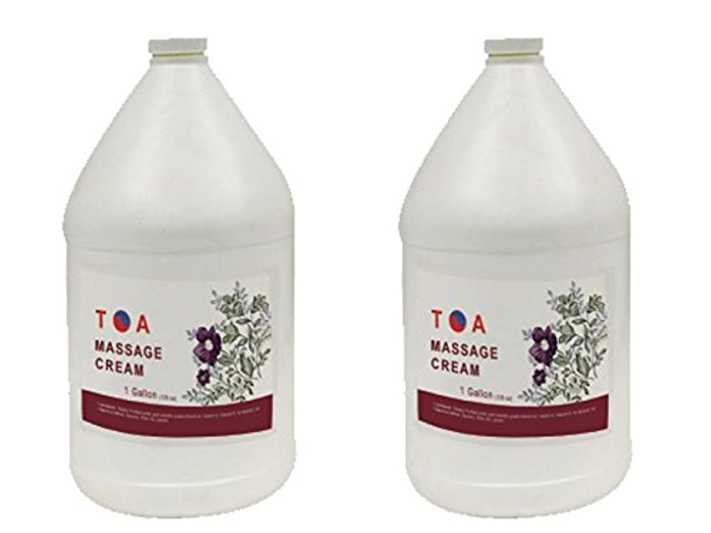 電話する厳密に用心TOA Hydrating Body Spaマッサージの無香クリームケース2ガロン