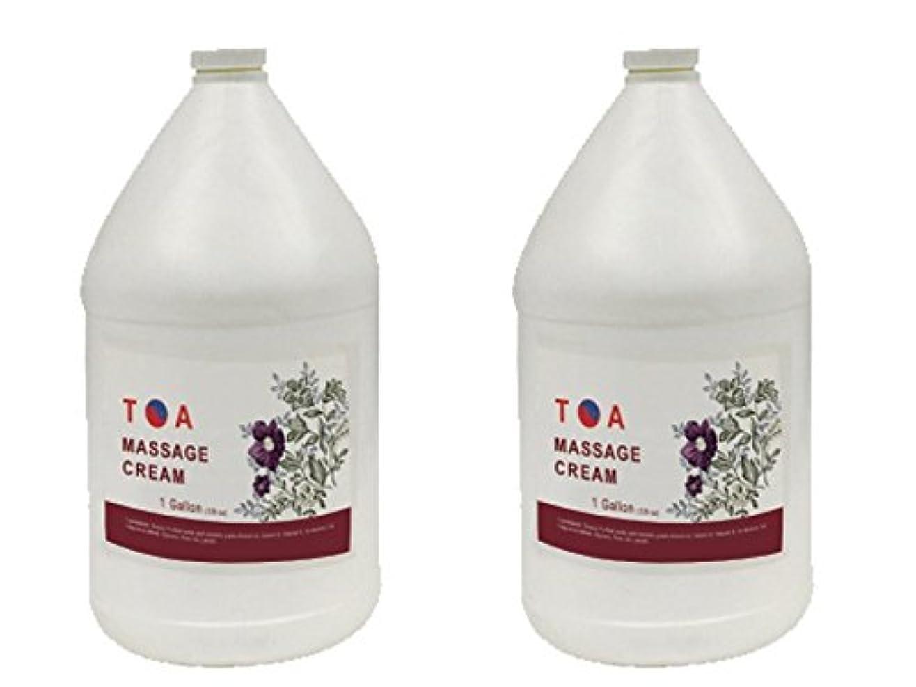 TOA Hydrating Body Spaマッサージの無香クリームケース2ガロン