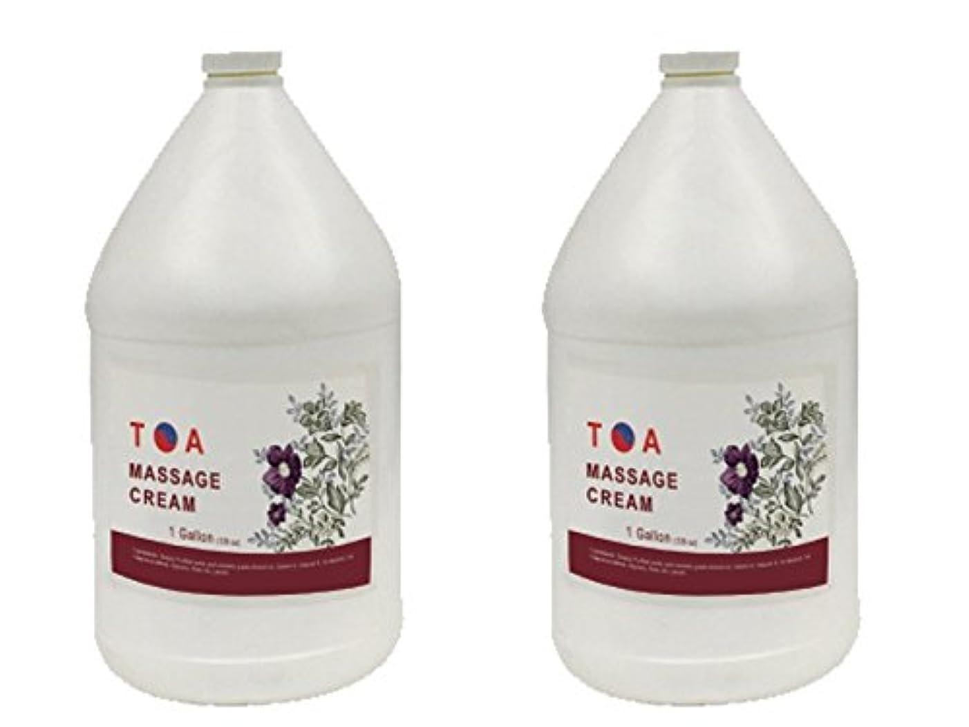 適合気候平らなTOA Hydrating Body Spaマッサージの無香クリームケース2ガロン
