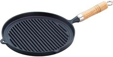 南部鉄木柄烤盘25cm 23029