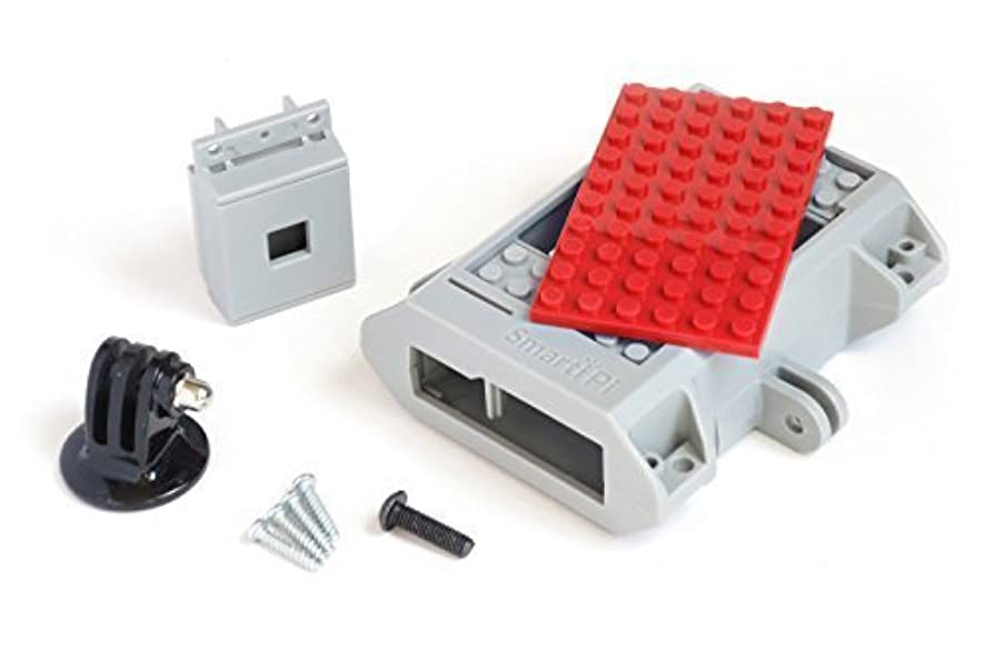 想像する住むバウンスLEGO compatible SmartiPi Raspberry Pi B+,2, and 3 w/ camera case and GoPro compatible mount - Red [並行輸入品]
