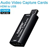 wentgo USB2.0 HDMI Audio Video Capture Cards to USB 1080p Record Via DSLR Camcorder Camera for High Definition Acquisition Live Broadcasting