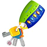 Sanwooden Toy Gift Musical Car Key Toy Colorful Baby Toy Smart Remote Sound Musical Car Key Keychain Pretend Education Toys for All Ages