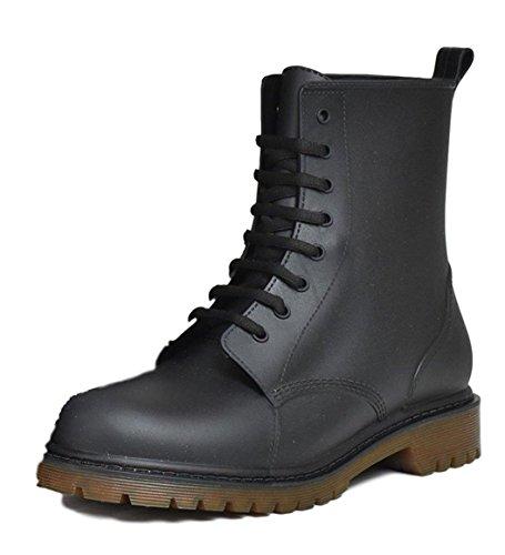 Yanuku Go La(ヤヌークゴラ) 長靴 レースアップ 雨靴 雪 防水 メンズ 09 黒×茶 26.0cm