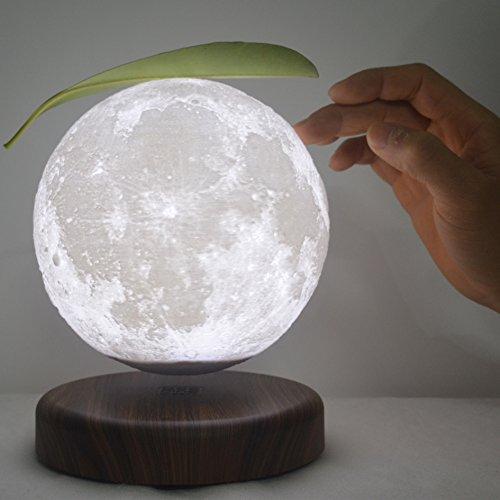 leviluna 7インチ/ 18?cm磁気サスペンション3d印刷MoonランプMoonlight磁気浮上フローティングMoonランプLED Moon Light