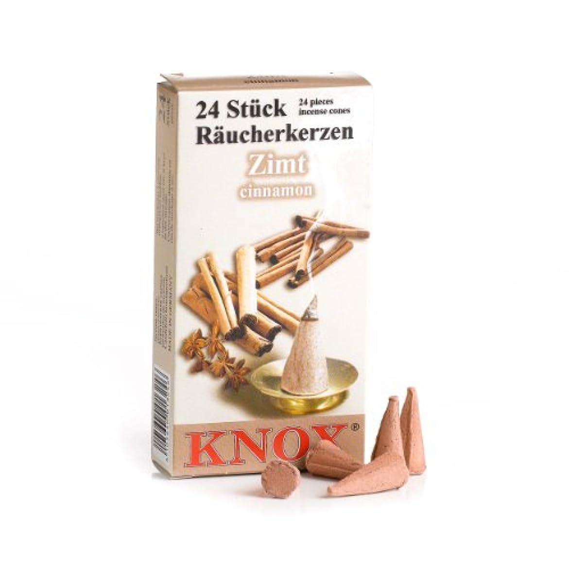 これら自殺変なKnox Cinnnamon香りつきIncense Cones、24パック、ドイツ製