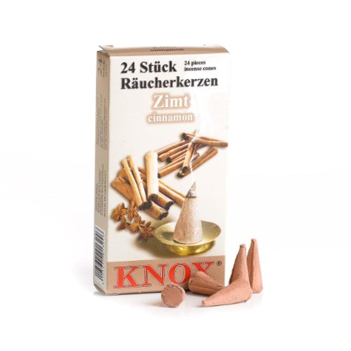 Knox Cinnnamon香りつきIncense Cones、24パック、ドイツ製