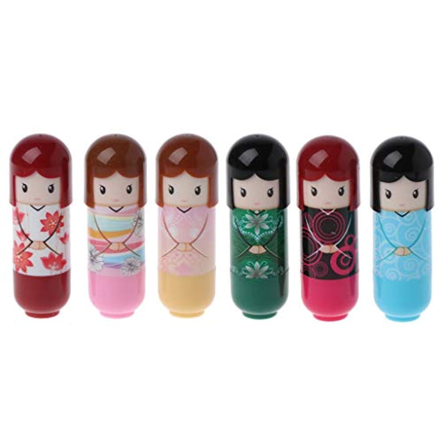 料理眠る乳Kimyuo 6本 着物人形 化粧 リップグロスバーム しっとり   リップペン 化粧品 口紅