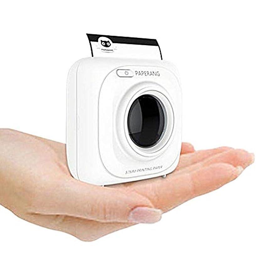 いらいらさせる件名留め金印刷物のペーパーが付いているiPhone / iPad / Mac /人間の特徴をもつ装置のためのP1白い小型無線ペーパー写真プリンター携帯用Bluetoothの即刻のモバイルプリンター