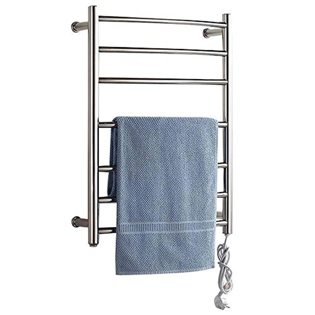 二次ただやる所持壁掛け式電気タオルウォーマー、加熱タオルラック浴室ラジエーター、浴室乾燥ラック、304ステンレス鋼、恒温乾燥、防水および防錆700 * 520 * 125mm