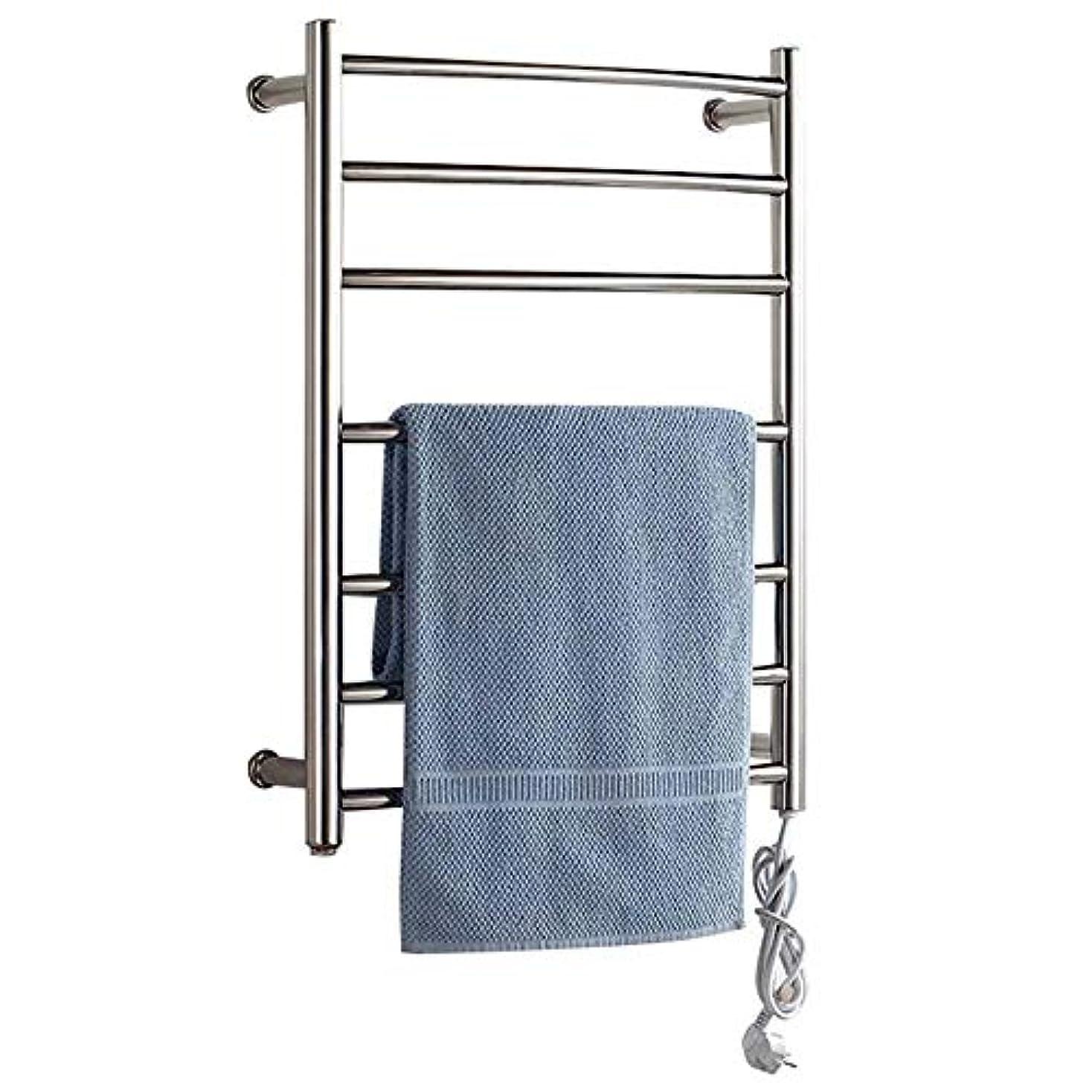 住居コーンウォールひねり壁掛け式電気タオルウォーマー、加熱タオルラック浴室ラジエーター、浴室乾燥ラック、304ステンレス鋼、恒温乾燥、防水および防錆700 * 520 * 125mm