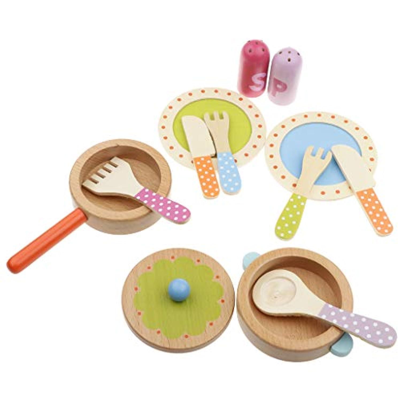 KESOTO 木のおもちゃ 幼児 子ども 知育玩具 食器 調理器具 キッチンおままごとセット
