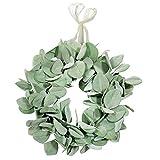 Anjetan Artificial Wreath Decorative Door Wreath Hanging Wreath Wedding Wreath for Window