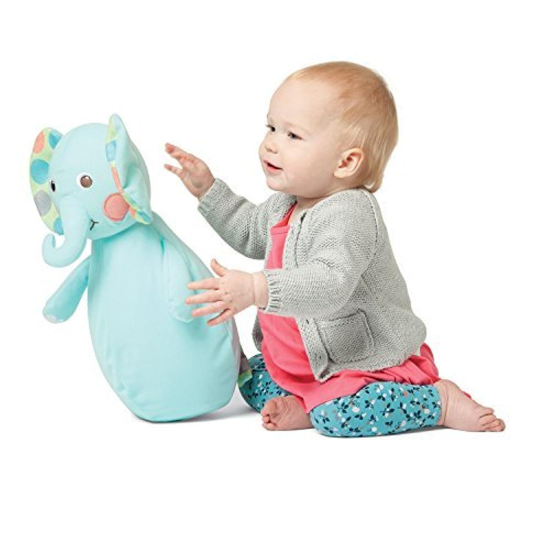 Manhattan Toy Roly-Bop Chime Elephant Wobble Toy [並行輸入品]