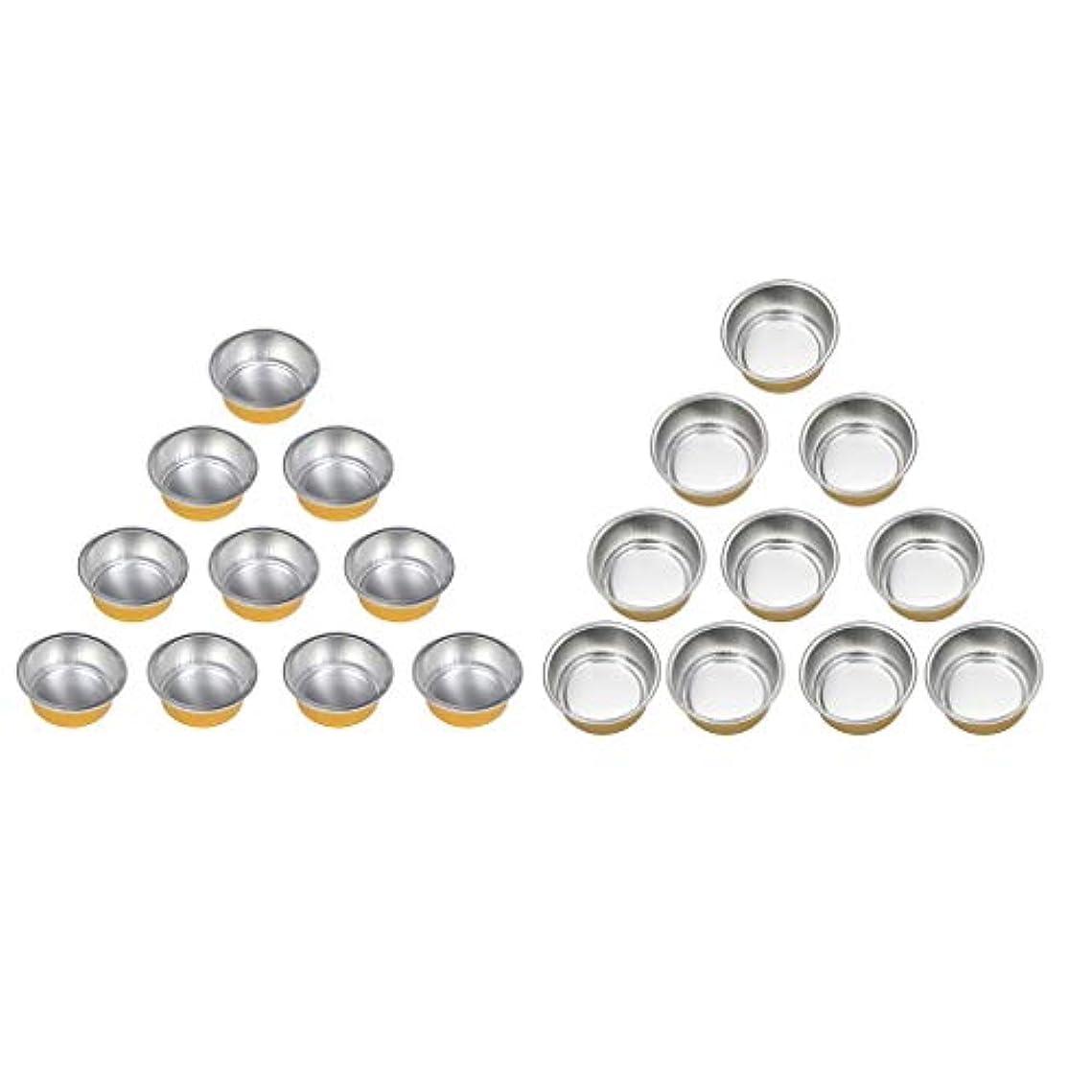 蛇行リクルート立ち向かうchiwanji ワックスヒーターマシンのための20個のホットアルミ箔ワックス溶融マグカップボウルポット錫
